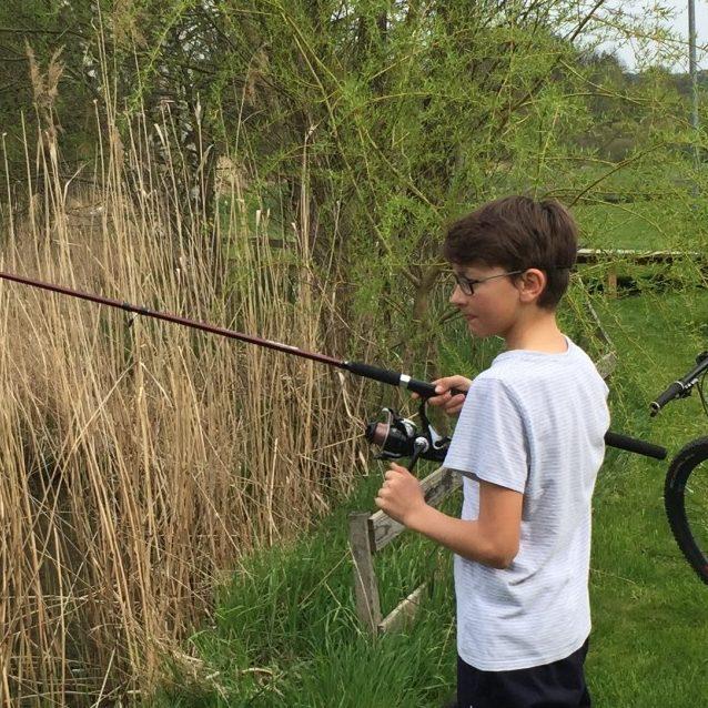 Fischen im Fluss